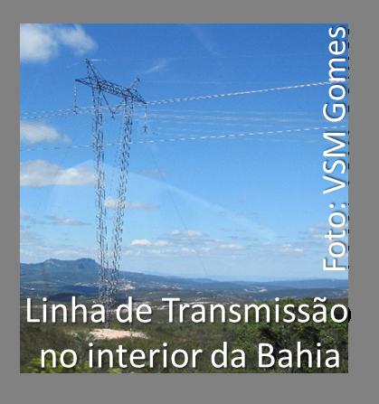 Linha de transmissão no interior da Bahia