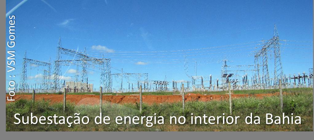 subestação de energia no interior da Bahia
