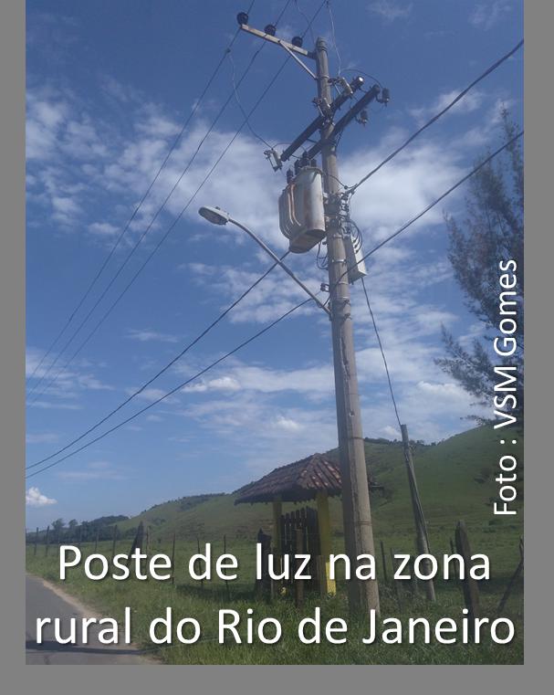 poste de luz na zona rural do Rio de Janeiro
